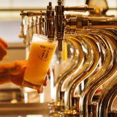 女性先行中❤️タイムサービス特別割引❤️ビヤホールでのビア会!ビールのプロが注ぐ生ビール黒生ビールはもちろん、サワー、カ...