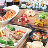 [] ❤️特別春割引❤️ロハスがテーマの健康的な和洋折衷料理が愉しめる『LOHAS Jスタイル』メイン料理を一品選び、各種惣菜、有...
