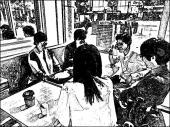 [新宿] 新宿カフェ会 ☆男女います☆定員オーバーサービス~止まらないHa~Ha  line@登録で300円お得です♪